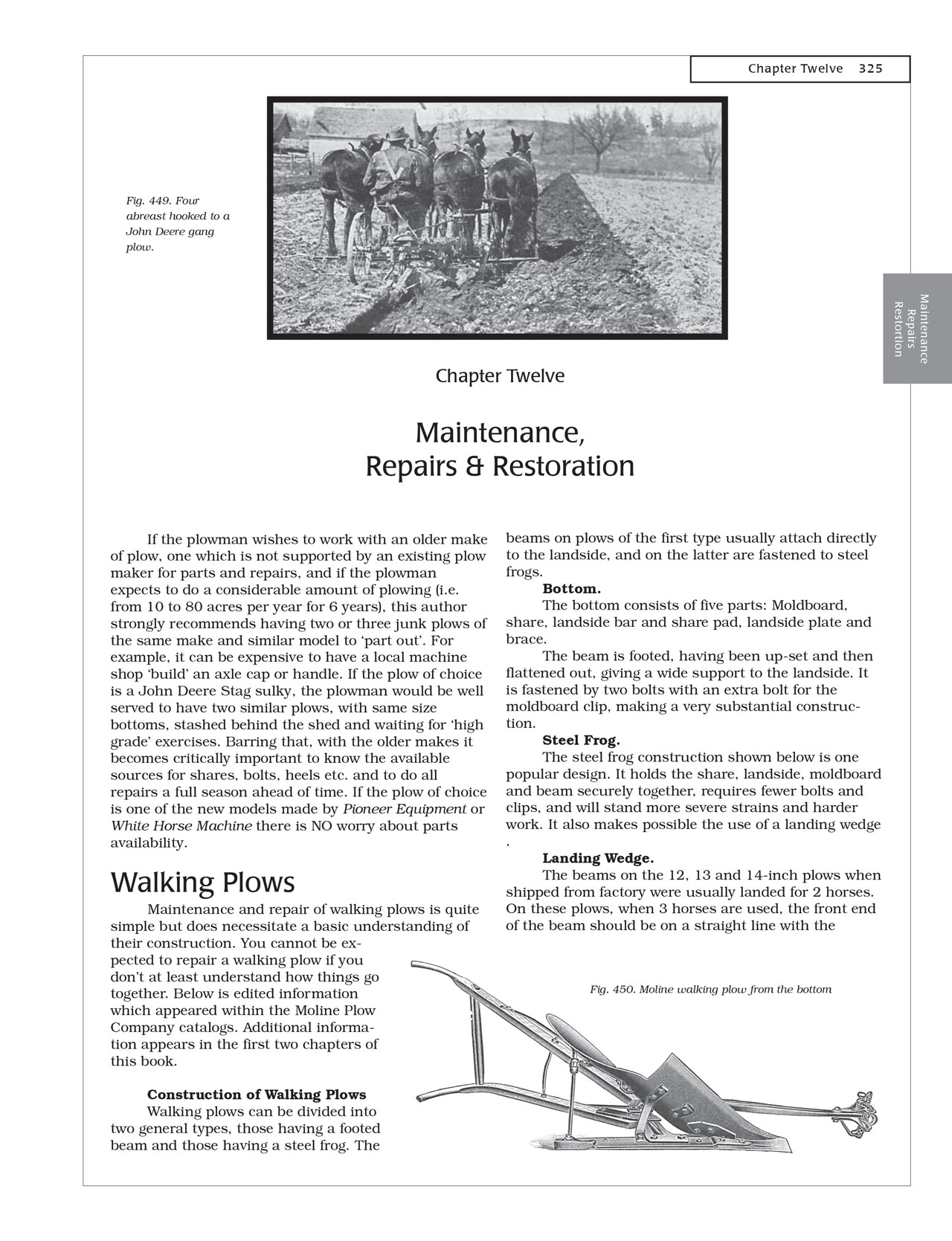 Horsedrawn Plows and plowing - Maintenance Repairs and Restoration